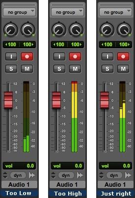 Niveau d'enregistrement en numérique